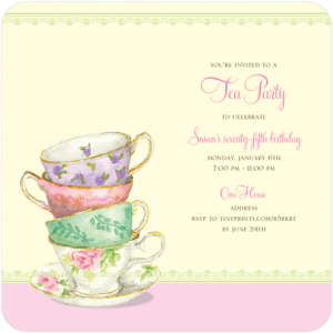 Tea Party Theme