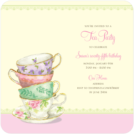 th birthday tea party invitations   beautiful invites, Birthday invitations