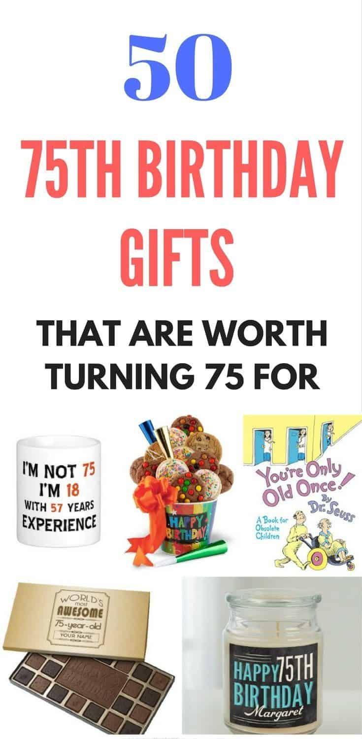 75th Birthday Gifts - Stuck on what gift to give someone who's turning 75? Check out these great 75th birthday gift ideas!