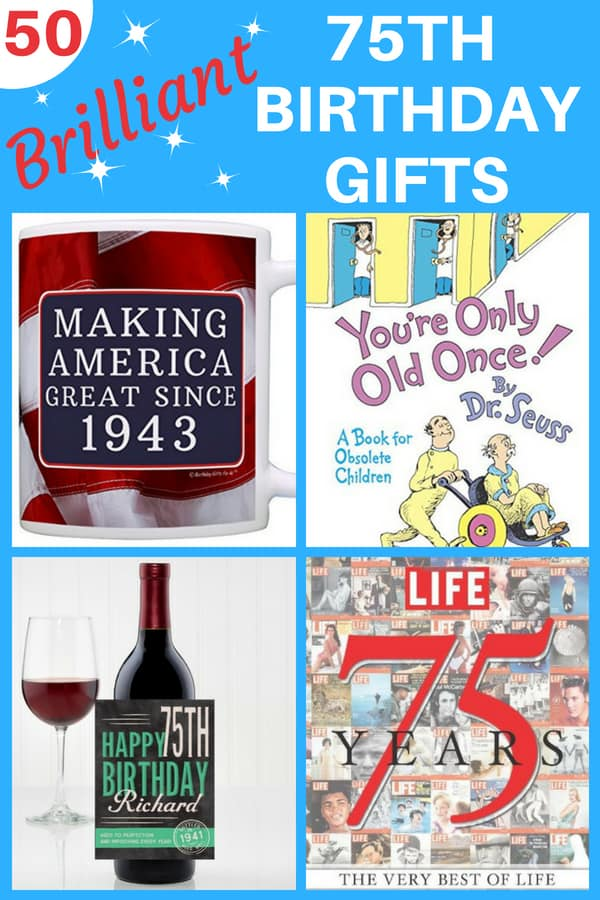 Looking for awesome 75th birthday gifts? Thrill Mom, Dad, Grandma, Grandpa or anyone turning 75 with the perfect present. Click to see 50 great gift ideas to celebrate a 75th birthday.