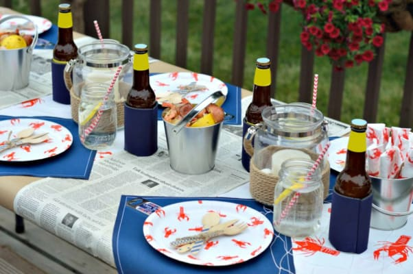 A clam bake or seafood boil are marvelous outdoor 75th birthday party ideas!