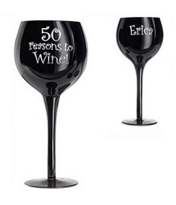 75th Birthday Wine Glass - Personalized
