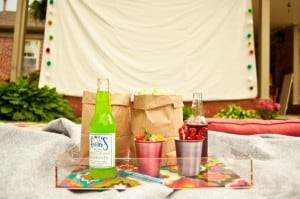 outdoor movie party theme for 75th birthday