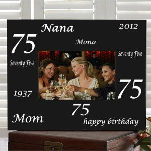 Personalized 75th Birthday Picture Frame