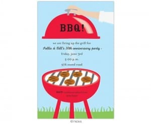 Birthday Party BBQ Invites