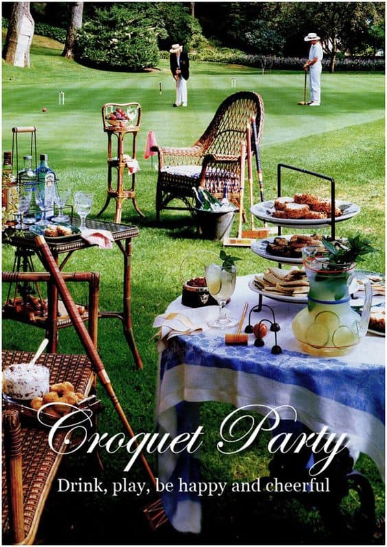 Take a stroll back to more genteel times with an elegant croquet-themed birthday party!