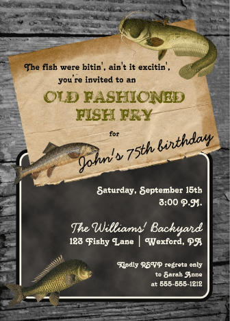 An old-fashioned fish fry is a wonderful party theme for the fisherman (or woman)!
