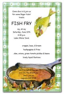 Fish Fry Invitations