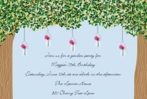 Garden Party Invites