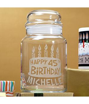 Happy 75th Birthday Treats Jar