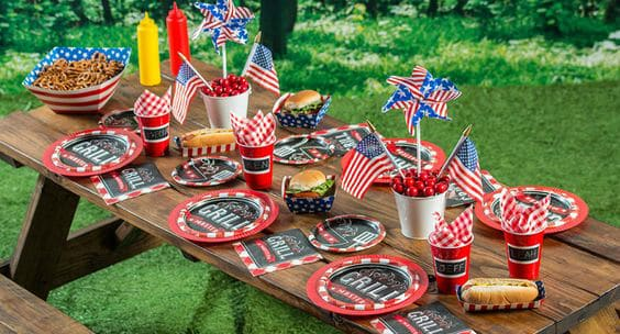BBQ and beer...what could be a more fun (and old-fashioned) outdoor theme for a 75th birthday party?