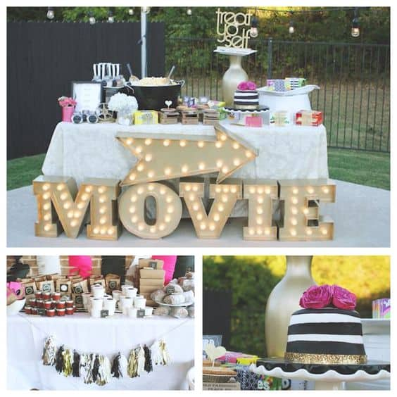 An outdoor movie party is a fabulous warm-weather birthday party theme.