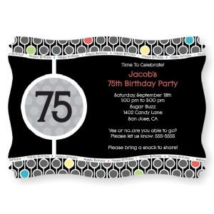 75th Birthday Party Decorations