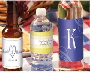 75th Birthday Personalized Bottle Labels