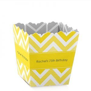 Striped 75th Birthday Party Decorations - Choice of Colors