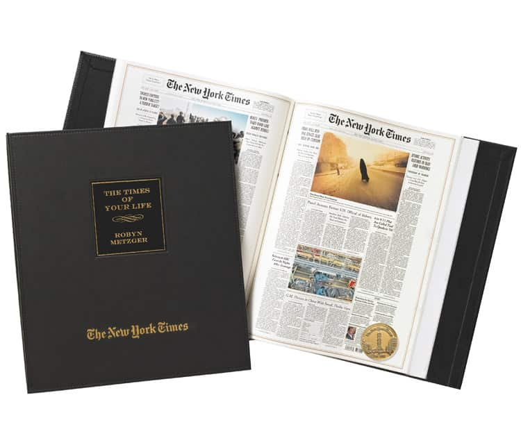 The Day You Were Born Ultimate Birthday Book by the New York Times