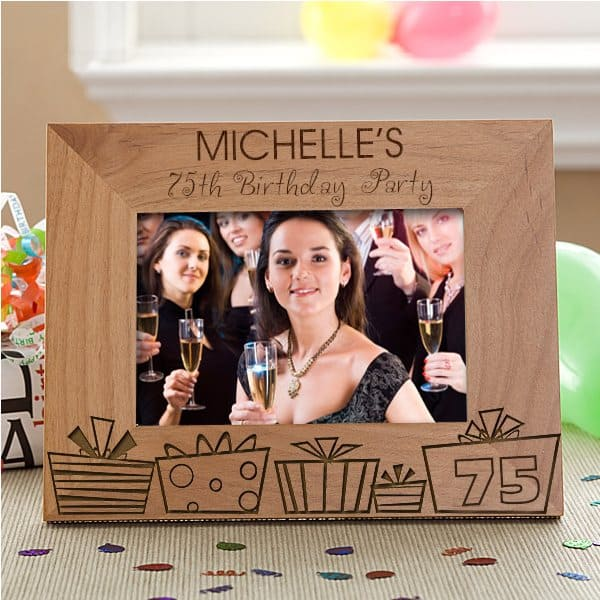 Personalized 75th Birthday Gifts Frame