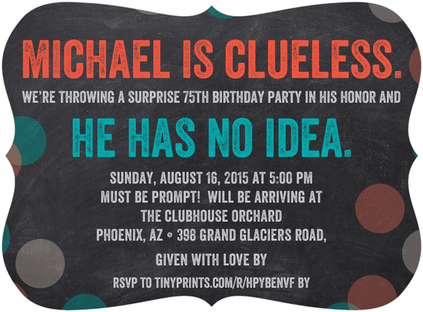 Funny Surprise Party Invitations