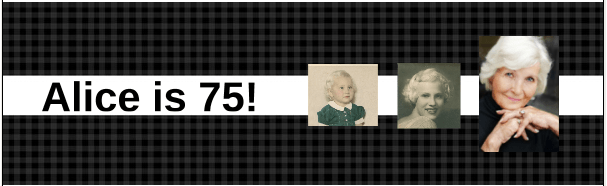 75th Birthday Photo Banner