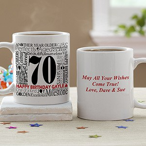 75th Birthday Personalized Coffee Mug