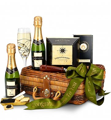Champagne and Caviar Gift Basket