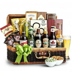 Craft Beer & Gourmet Snacks Basket