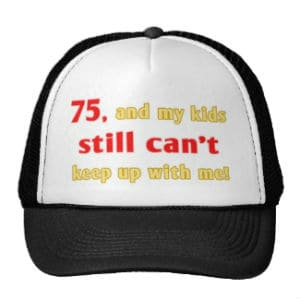 Funny 75th Birthday Hat for Dad