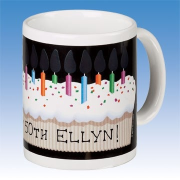 Magical Light Up Candle Personalized Birthday Mug