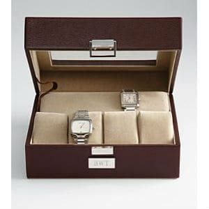 Men's Leather Watch Box