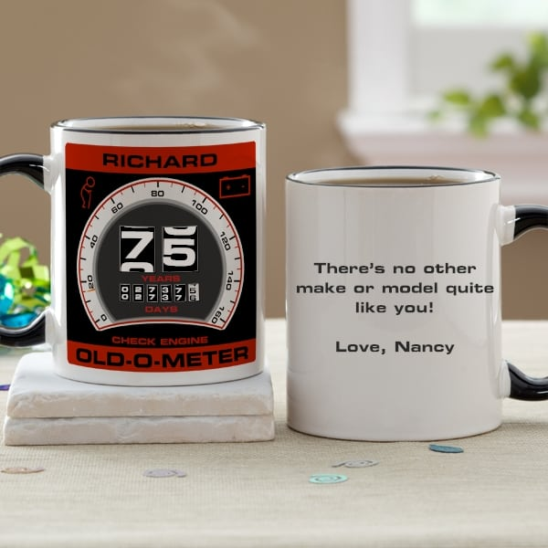 Personalized 75th Birthday Mug