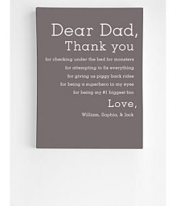 5 Reasons to Thank Dad Personalized Wall Art
