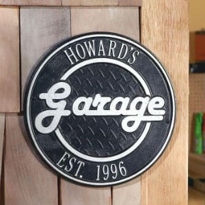 Personalized Retro Garage Sign