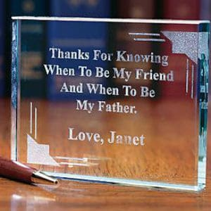 Personalized Glass Paperweight