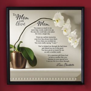 To Mom with Love Personalized 75th Birthday Poem Canvas