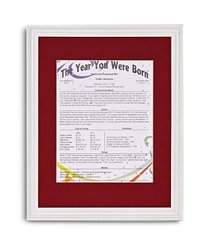 Year You Were Born Personalized Trivia Print