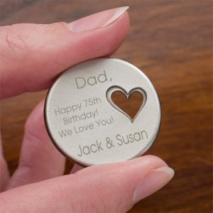 Personalized 75th Birthday Pocket Token
