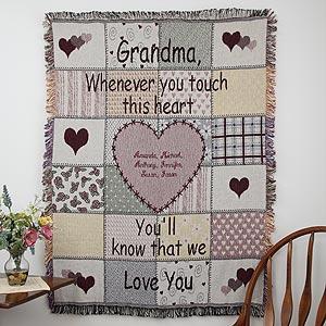 We Love Grandma Personalized Afghan