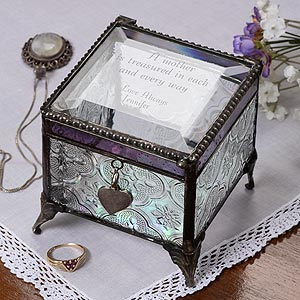 75th Birthday Gift for Grandma - Personalized Jewelry Box