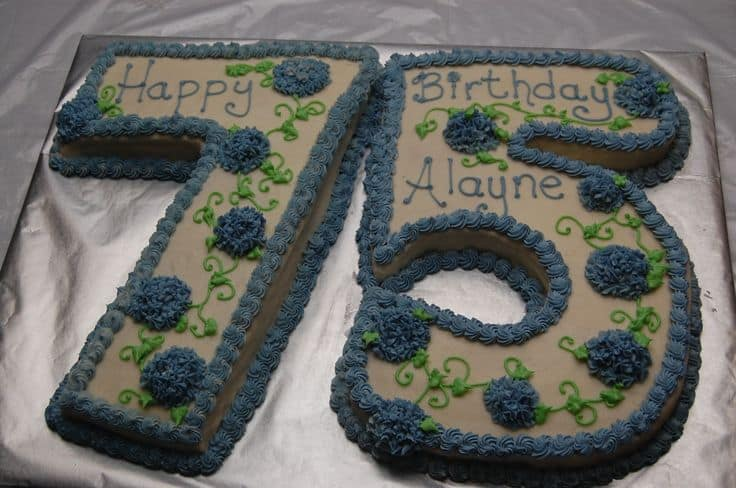 how to make a number 75 birthday cake