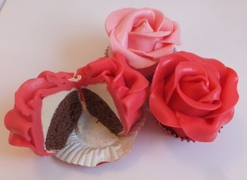 75th Birthday Rose Cupcakes