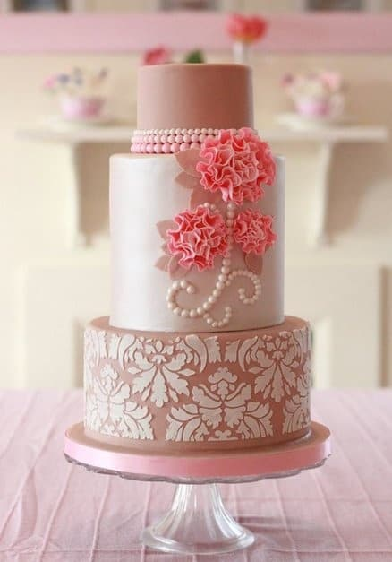 Elegant tea party cake