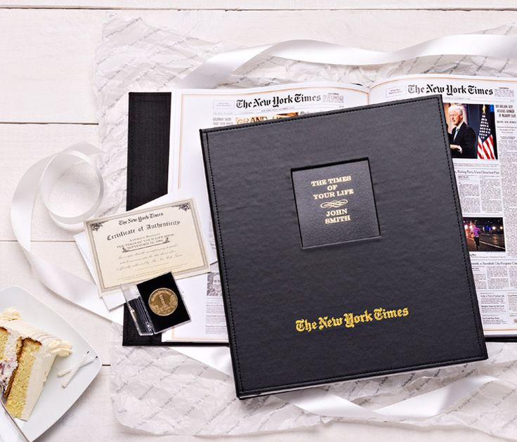 The Day You Were Born Book features every birthday front page from the New York Times for your entire lifetime!