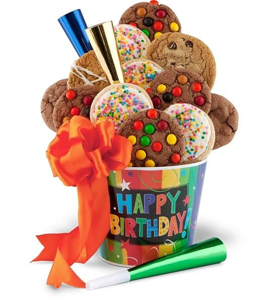 Happy Birthday Cookie gift basket - Brighten someone's birthday with this delightful - and affordable - birthday cookie gift basket!