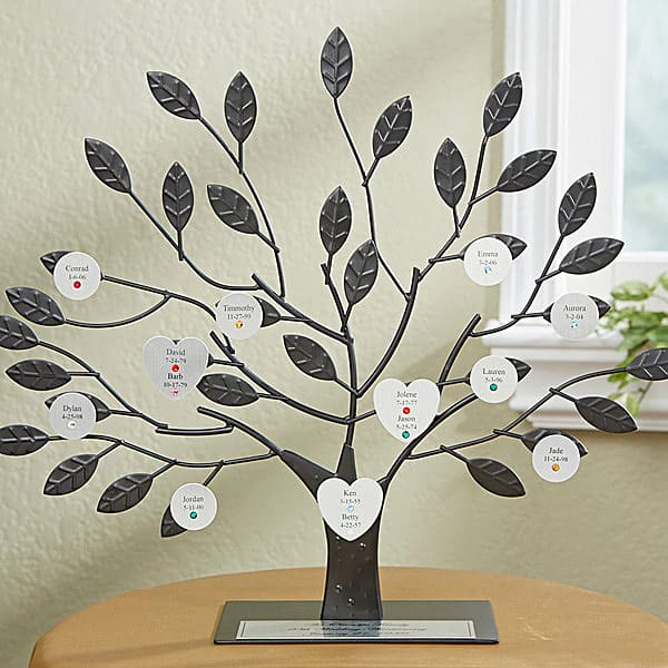 Personalized 3d Family Tree Sculpture
