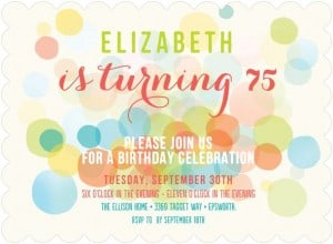 75th Birthday Invitations for Women