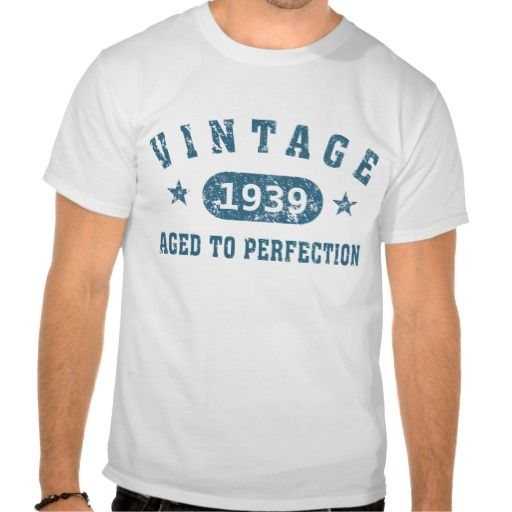 75th Birthday Shirt for Men - Vintage 1939 - Aged to Perfection