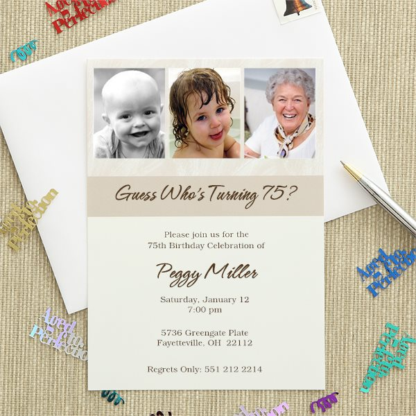 Then and Now 3 Photo Invitations