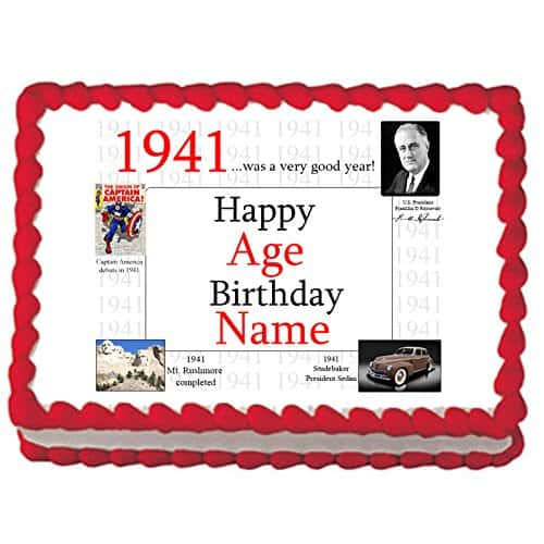 1941 Personalized 75th Birthday Cake