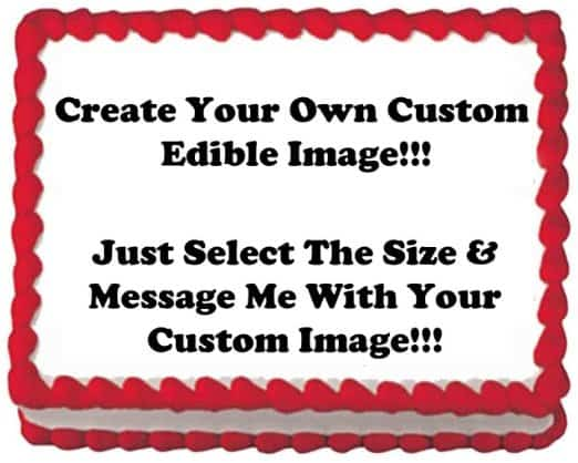 Custom 75th Birthday Edible Image Cake Topper