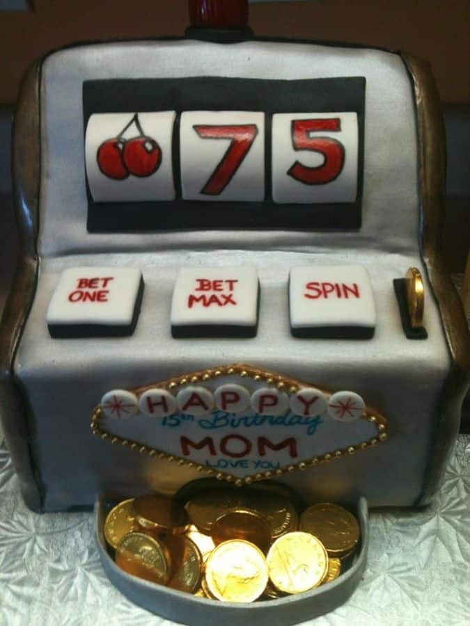 75th Birthday Slot Machine Cake